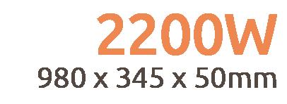 2200w Apollo Remote Controllable Infrared Bar Heater