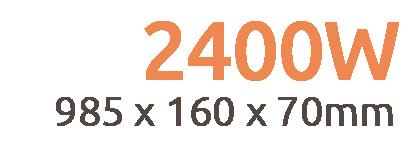 2400W Aurora Infrared Bar Heater