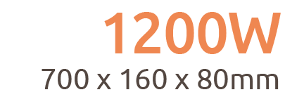1200W Aurora Wi-Fi Remote Controllable Infrared Bar Heater