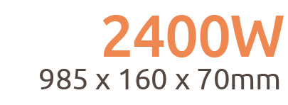 2400W Aurora Wi-Fi Remote Controllable Infrared Bar Heater