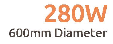 280W Premium Frameless Infrared Heating Panel