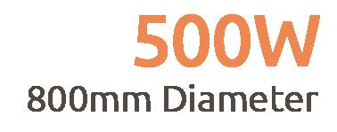 500W Premium Frameless Infrared Heating Panel