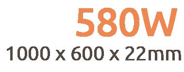580W Premium Frameless Infrared Heating Panel
