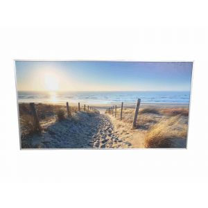 700w Beach Front Custom Image NXT Gen Infrared Heating Panel - Grade B (Silver Frame)