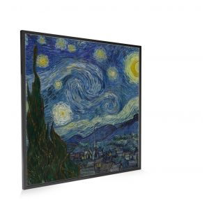 595x595 The Starry Night NXT Gen Infrared Heating Panel 350W Black Frame- Brand New