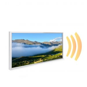 595x1195 Rolling Cloud Picture NXT Gen Infrared Heating Panel 700W - Electric Wall Panel Heater