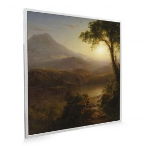 595x595 Tropical Scenery Picture NXT Gen Infrared Heating Panel 350W - Brand New (Silver Frame)