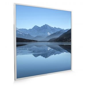 595x595 Arctic Lake Picture NXT Gen Infrared Heating Panel 350W - Brand New (White Frame)