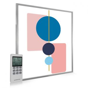 995x1195 Abstract Geometry Picture NXT Gen Infrared Heating Panel 1200W - Electric Wall Panel Heater