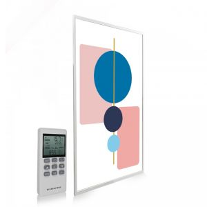 595x995 Abstract Geometry Picture NXT Gen Infrared Heating Panel 580W - Electric Wall Panel Heater