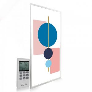 595x1195 Abstract Geometry Image NXT Gen Infrared Heating Panel 700W - Electric Wall Panel Heater