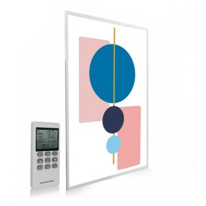 795x1195 Abstract Geometry Picture NXT Gen Infrared Heating Panel 900W - Electric Wall Panel Heater