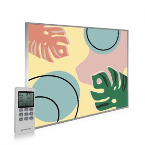 995x1195 Abstract Leaves Picture NXT Gen Infrared Heating Panel 1200W - Electric Wall Panel Heater