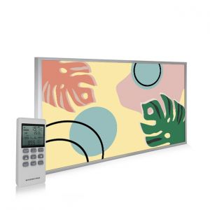 595x995 Abstract Leaves Picture NXT Gen Infrared Heating Panel 580W - Electric Wall Panel Heater