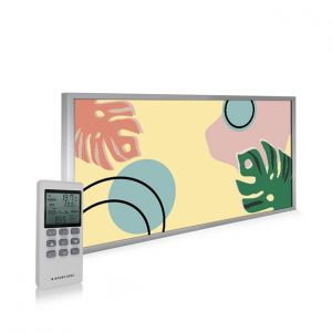595x1195 Abstract Leaves Image NXT Gen Infrared Heating Panel 700W - Electric Wall Panel Heater