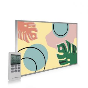 795x1195 Abstract Leaves Picture NXT Gen Infrared Heating Panel 900W - Electric Wall Panel Heater