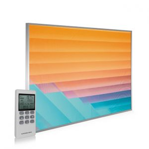 995x1195 Abstract Lines Picture NXT Gen Infrared Heating Panel 1200W - Electric Wall Panel Heater