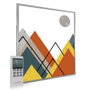995x1195 Abstract Mountains Picture NXT Gen Infrared Heating Panel 1200W - Electric Wall Panel Heater