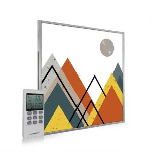 595x595 Abstract Mountains Image NXT Gen Infrared Heating Panel 350W - Electric Wall Panel Heater