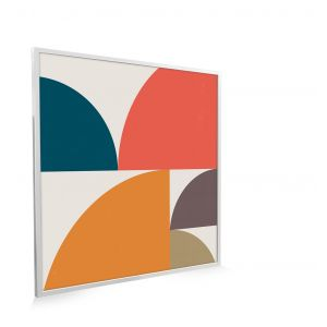 595x595 Abstract Circles Image NXT Gen Infrared Heating Panel 350W - Electric Wall Panel Heater
