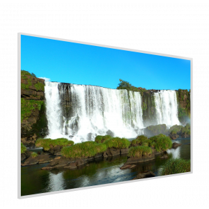 995x1195 Crashing Falls Picture NXT Gen Infrared Heating Panel 1200W - Electric Wall Panel Heater