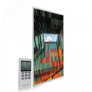 595x995 Geometric Architecture Picture NXT Gen Infrared Heating Panel 580W - Electric Wall Panel Heater