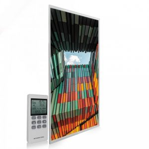 595x1195 Geometric Architecture Image NXT Gen Infrared Heating Panel 700W - Electric Wall Panel Heater