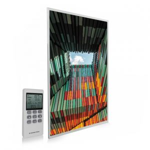 795x1195 Geometric Architecture Picture NXT Gen Infrared Heating Panel 900W - Electric Wall Panel Heater