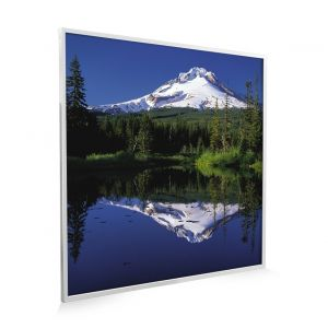 595x595 Lakeside Mountain Classic Infrared Heating Panel 350w - Grade B (White Frame)