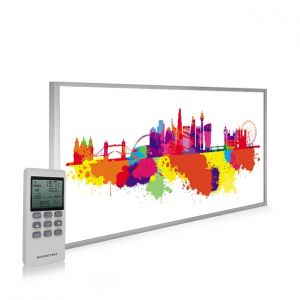 595x995 London Skyline Splash Picture NXT Gen Infrared Heating Panel 580W - Electric Wall Panel Heater