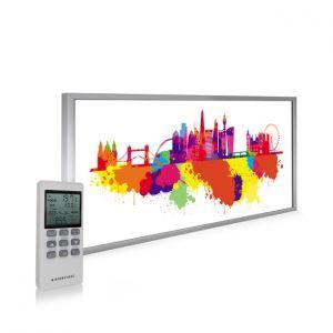 595x1195 London Skyline Splash Image NXT Gen Infrared Heating Panel 700W - Electric Wall Panel Heater