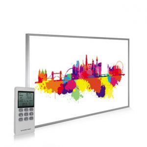 795x1195 London Skyline Splash Picture NXT Gen Infrared Heating Panel 900W - Electric Wall Panel Heater