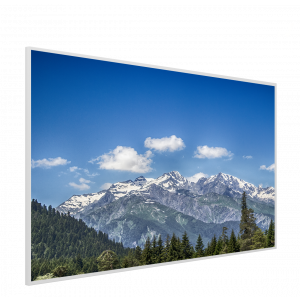 995x1195 Mountain Tops Picture NXT Gen Infrared Heating Panel 1200W - Electric Wall Panel Heater