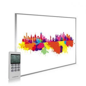 995x1195 New York Skyline Splash Picture NXT Gen Infrared Heating Panel 1200W - Electric Wall Panel Heater