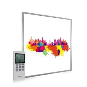 595x595 New York Skyline Splash Image NXT Gen Infrared Heating Panel 350W - Electric Wall Panel Heater