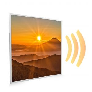 595x595 Sunset Mountains Picture NXT Gen Infrared Heating Panel 350W - Electric Wall Panel Heater