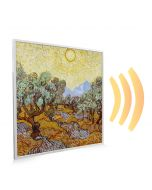 595x595 Olive Trees with Yellow Sky and Sun Picture NXT Gen Infrared Heating Panel 350W - Electric Wall Panel Heater
