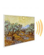 995x1195 Olive Trees with Yellow Sky and Sun Picture NXT Gen Infrared Heating Panel 1200W - Electric Wall Panel Heater