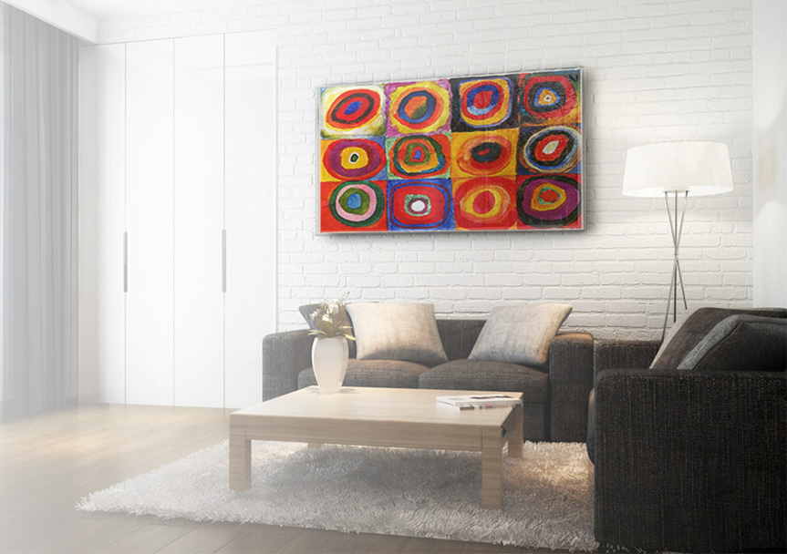 Open Space With A Wall Infrared Heating Panel